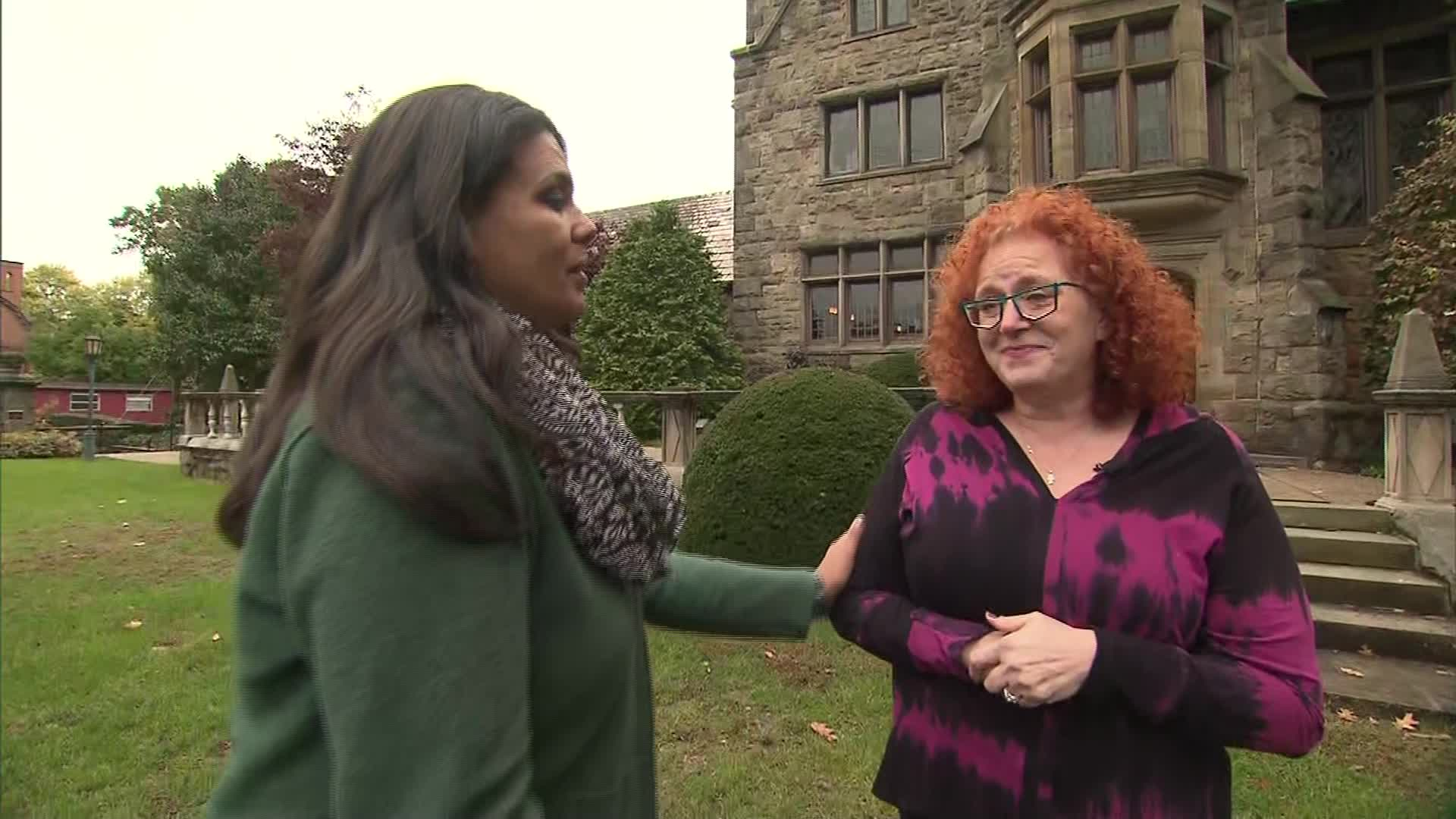Suzan Hauptman (right) spoke to CNN's Sara Sidner about her friends who were killed in the shooting.