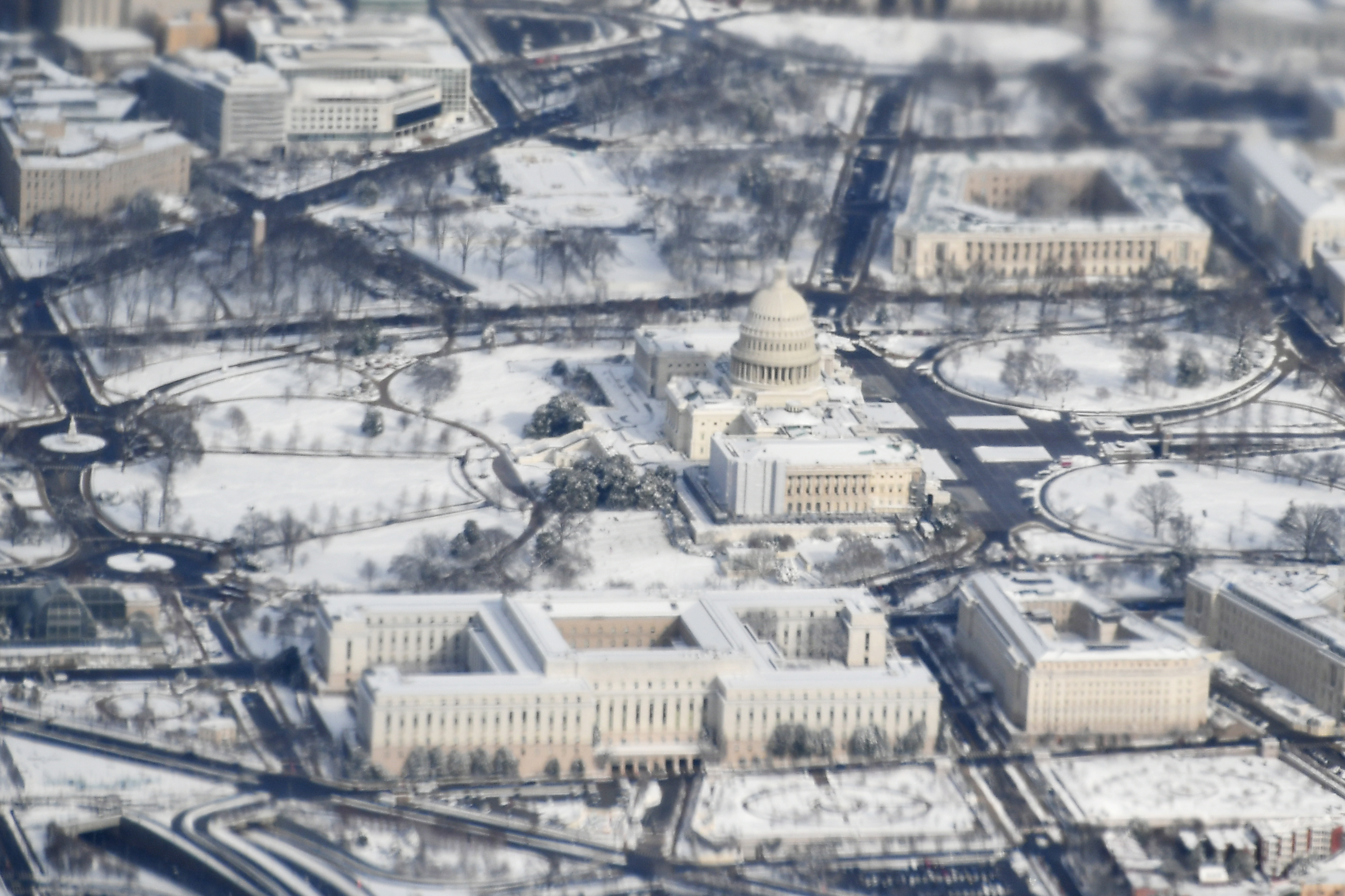 The US Capitol is seen from Air Force One on Monday
