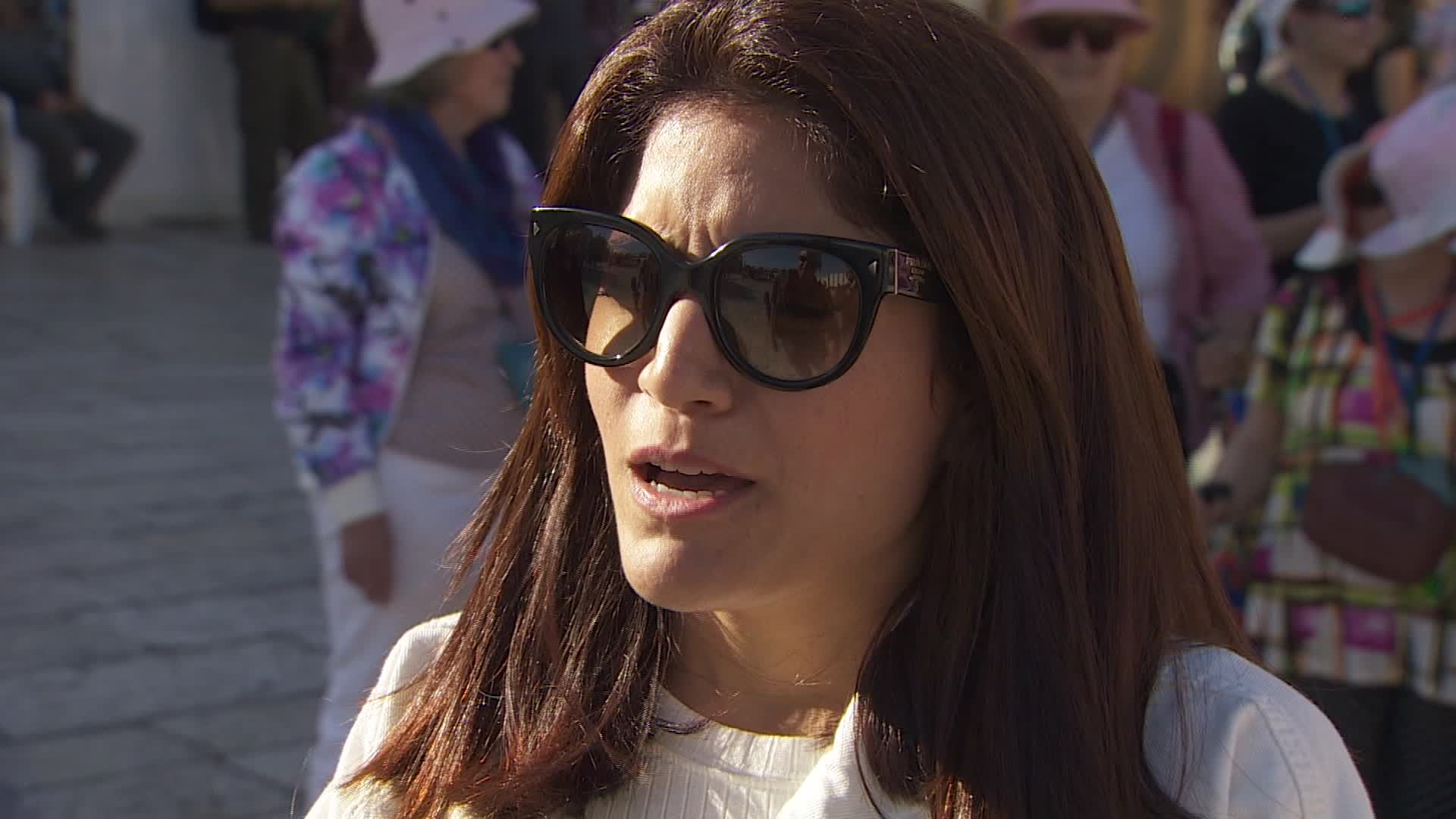 Yafit Dana, from Tel Aviv, Israel, spoke to CNN at Jerusalem's Western Wall on Sunday.