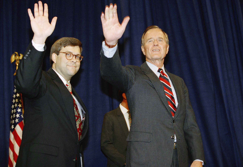 William Barr, left.