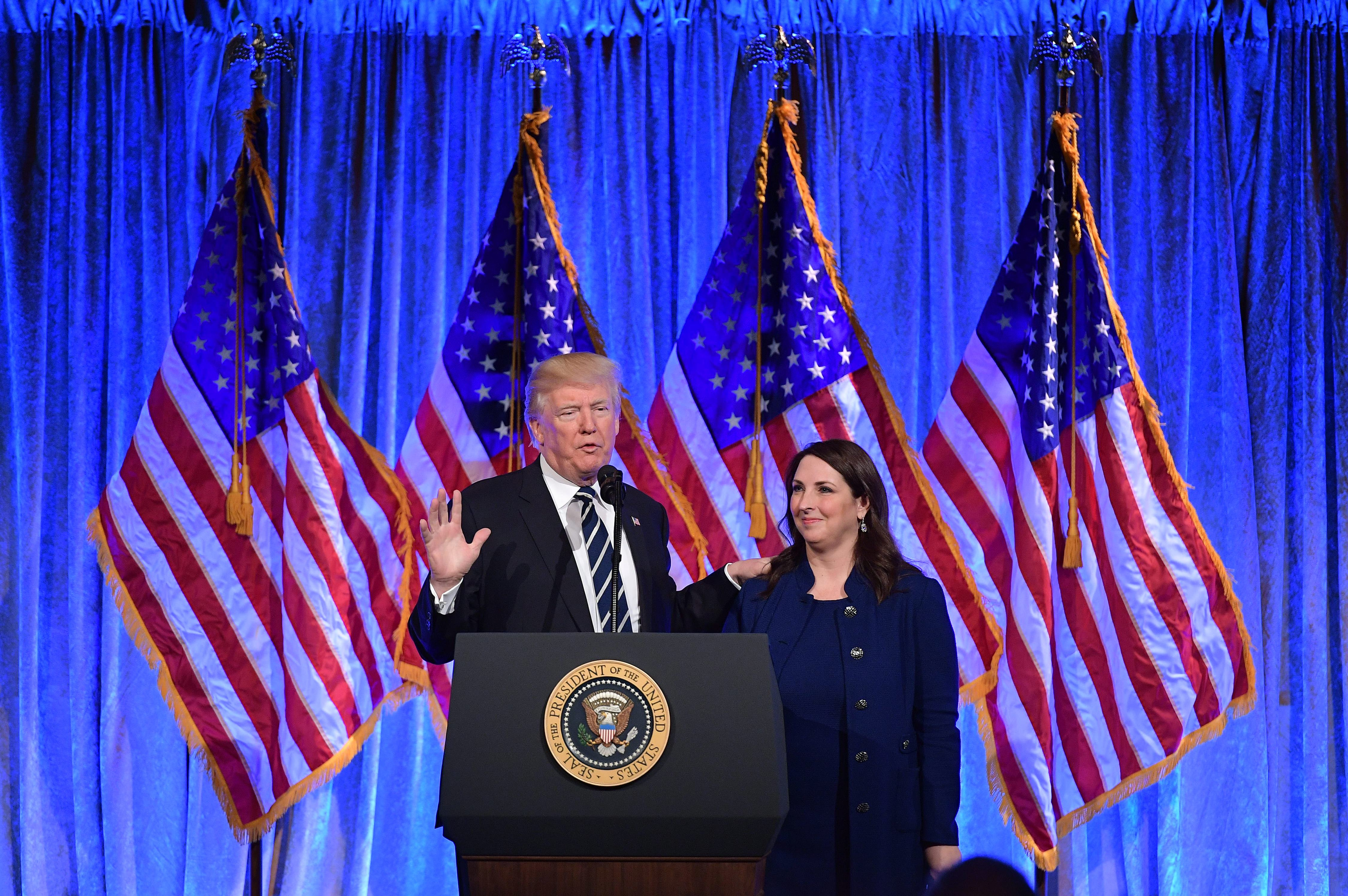 Trump and RNC Chairwoman Ronna McDaniel