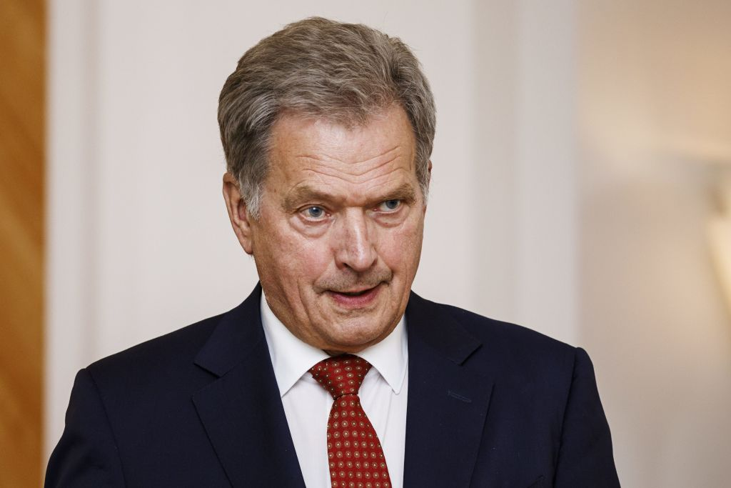 President of the Republic of Finland Sauli Niinistö holds a press conference of the Putin-Trump meeting in Mäntyniemi, the official residence of the Finnish President, in Helsinki, Finland on June 28, 2018.