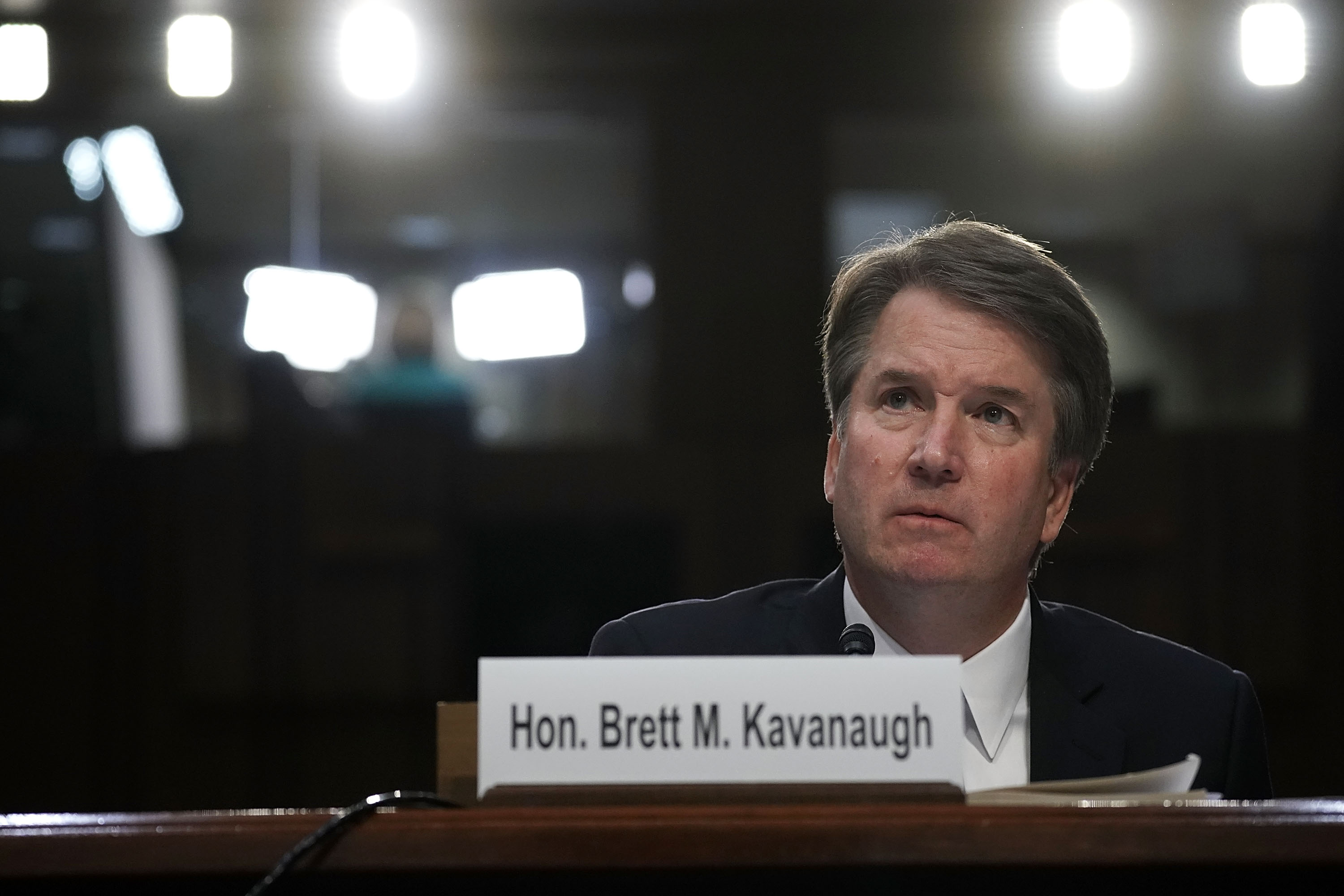 Supreme Court nominee Judge Brett Kavanaugh testifies before the Senate Judiciary Committee on Sept. 6, 2018 in Washington, DC.