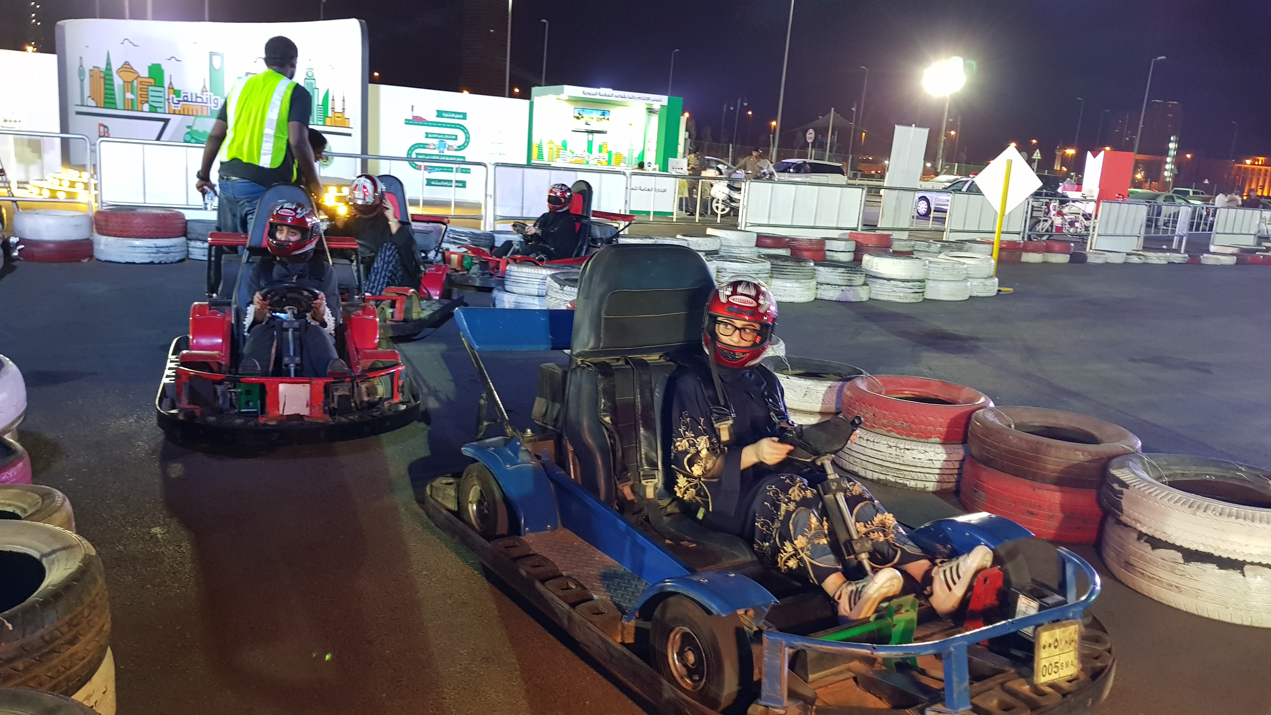 Rawan Ahmed at the go-kart track