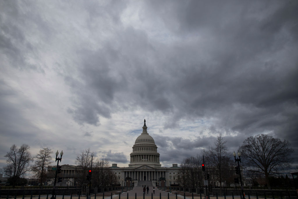 The US Capitol Building is pictured during the government shutdown on Jan. 1, 2019 in Washington, DC.