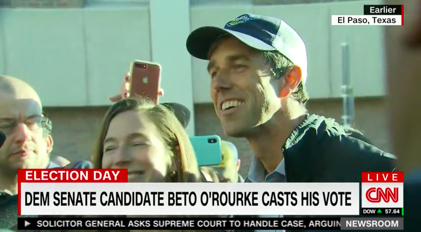9b037b2f Texas Democratic Senate candidate Beto O'Rourke cast his ballot in El Paso  Tuesday morning, telling reporters he expects to snag Republican opponent  Ted ...