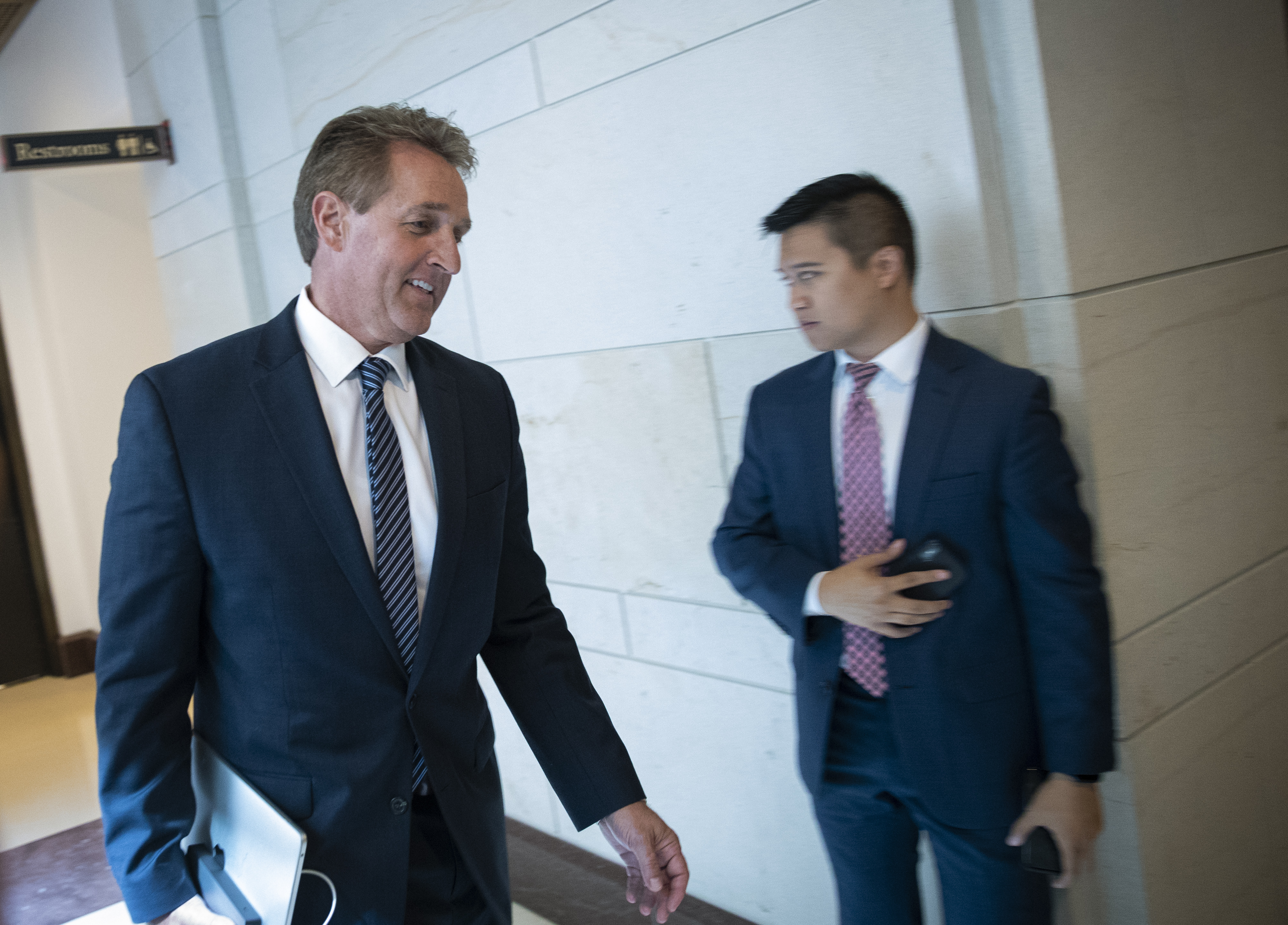 Flake is still making calls and weighing what to do