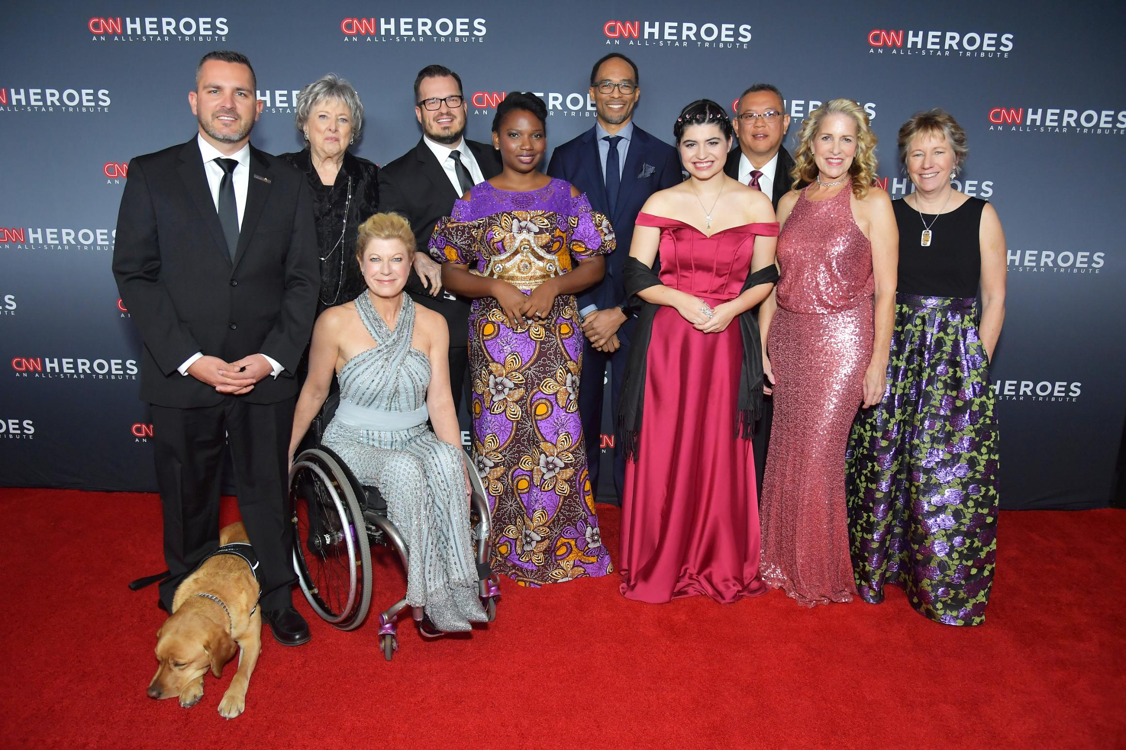 The 2018 Top Ten CNN Heroes on the red carpet