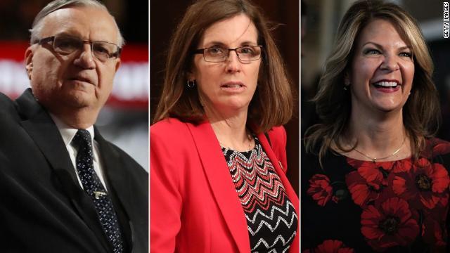 Joe Arpaio, Martha McSally and Kelli Ward are all running for Sen. Jeff Flake's seat.