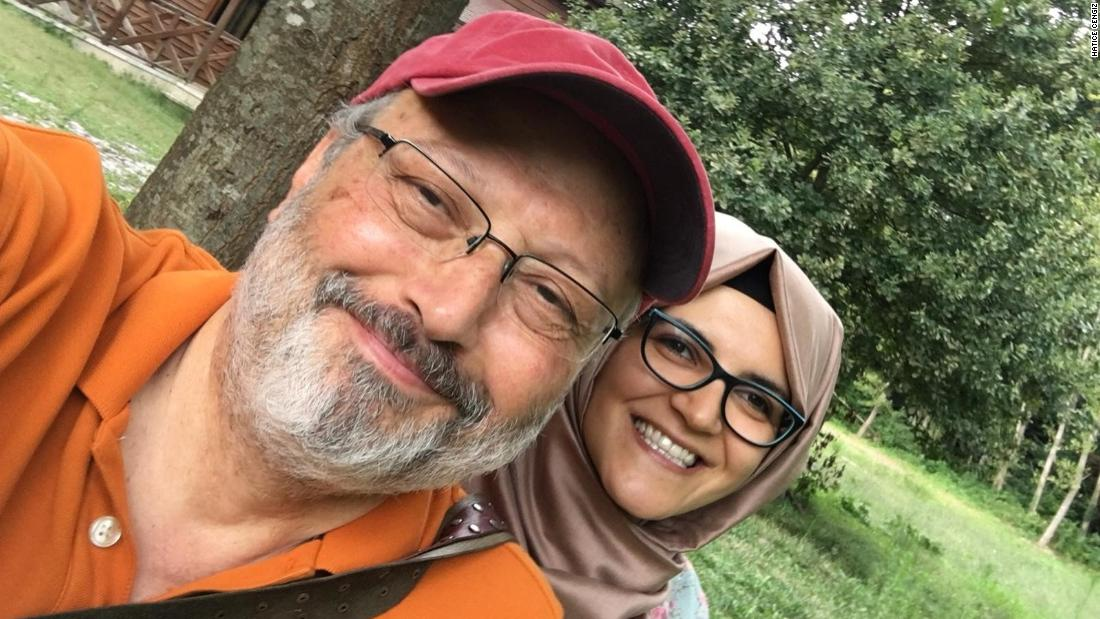Missing Saudi Journalist Jamal Khashoggi with his fiancée Hatice Cengiz.