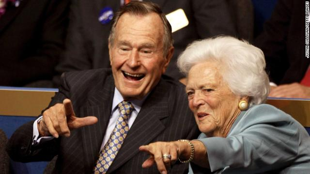 George H.W. Bush and his wife, Barbara Bush