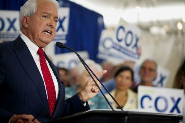 California GOP Gubernatorial Candidate John Cox speaks during an election eve party at the US Grant Hotel on June 5, 2018 in San Diego, California.