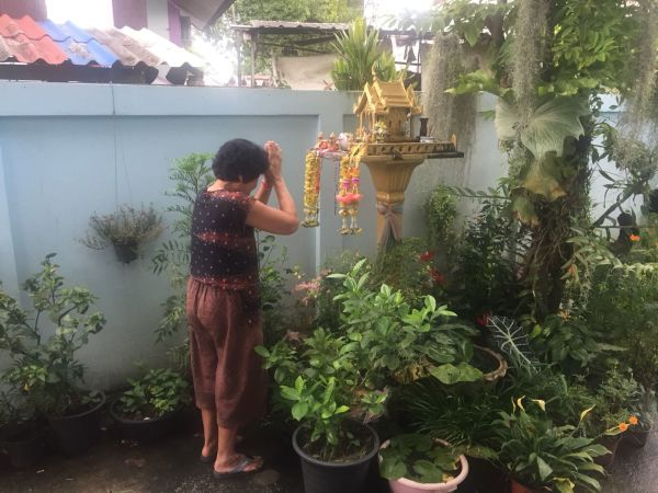 Wankaew Pakhumma has been praying at a shrine in her home for her grandson's safe return.