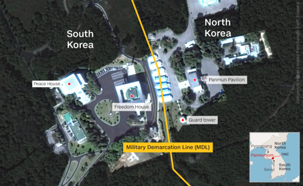 The Joint Security Area seen from above.