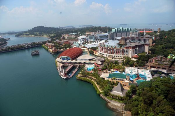 The view of Resorts World Sentosa island in Singapore is pictured on June 6, 2018. The highly anticipated meeting between US President Donald Trump and North Korean leader Kim Jong Un will take place at a resort island off Southern Singapore, the White House confirmed on June 5, 2018.