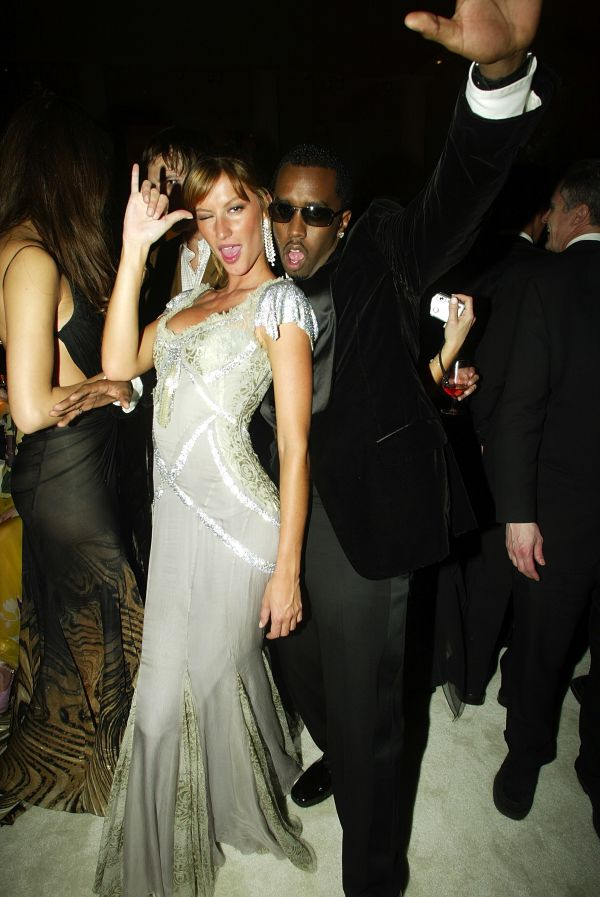 Model Gisele Bundchen and Sean '. Diddy'Combs attend the 2003 Met Gala.