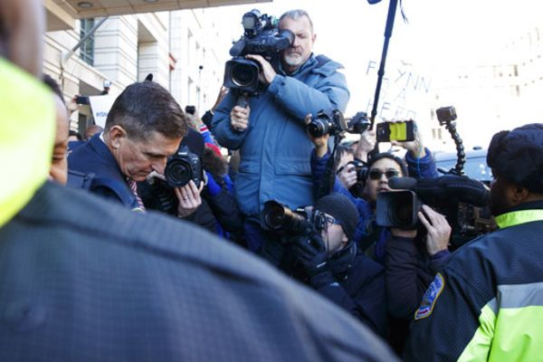 President Trump's former national security adviser Michael Flynn leaves federal court in Washington, Tuesday, Dec. 18, 2018.