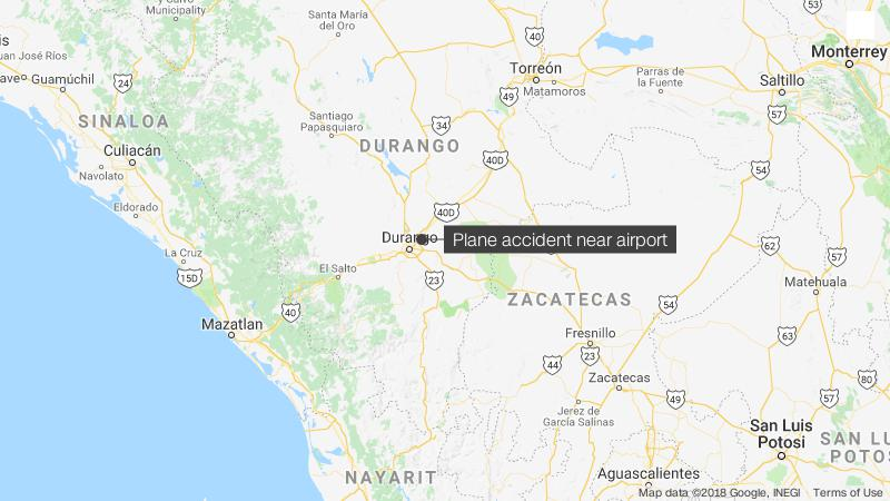 Plane crashes near airport in Durango, Mexico