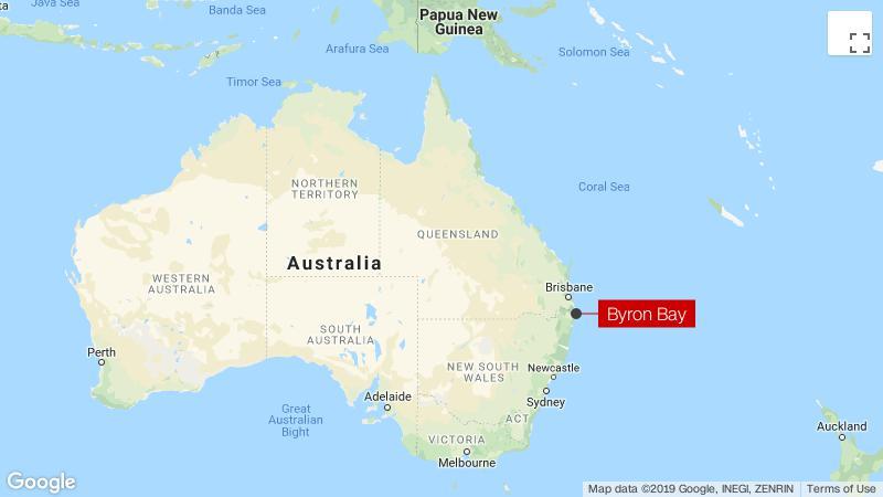 Australia Map Byron Bay.Shark Attacks Man Surfing At Australia S Byron Bay Cnn
