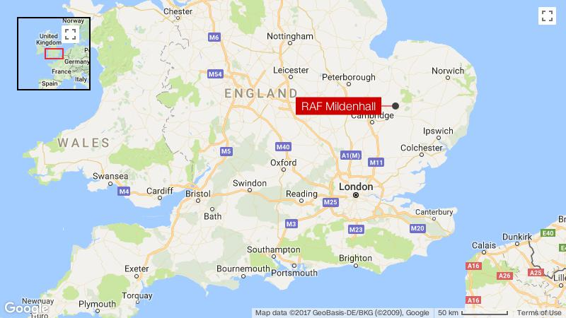 Mildenhall England Map.Raf Mildenhall Air Base In Lockdown After Car Attempts To Ram