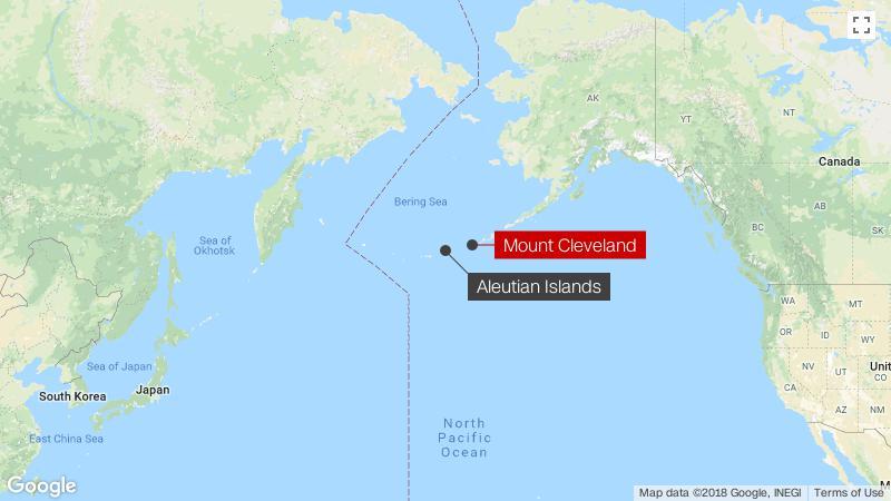 Alaska Map Volcano.Alaskan Volcano S Threat Level Raised To Orange After Explosion Cnn