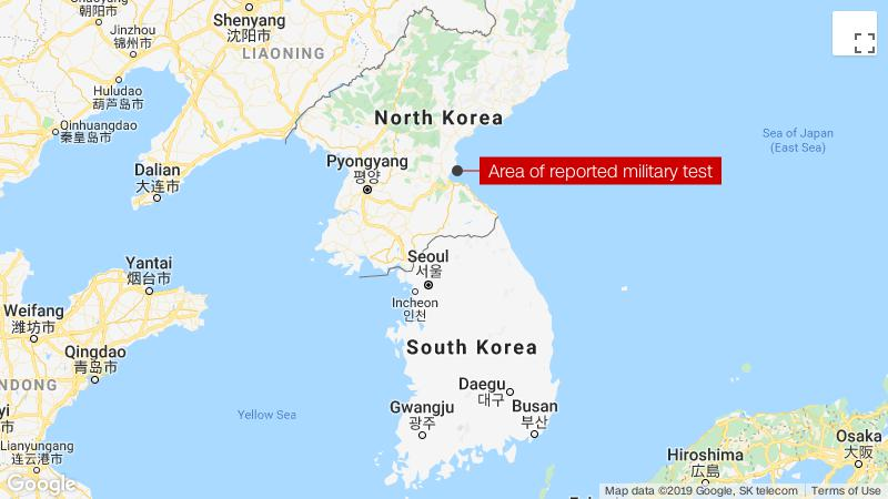 Korea fires short-range missiles into East Sea