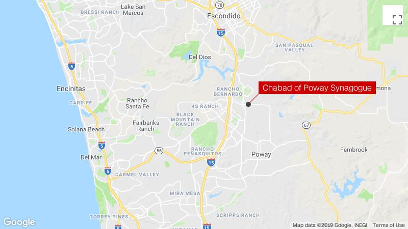 Synagogue shooting leaves 1 dead, 3 wounded in Poway, near