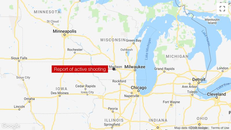 Active shooter reported inside a building in Madison, Wisconsin software company