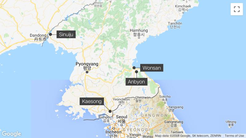 South Korean train crosses North Korea border