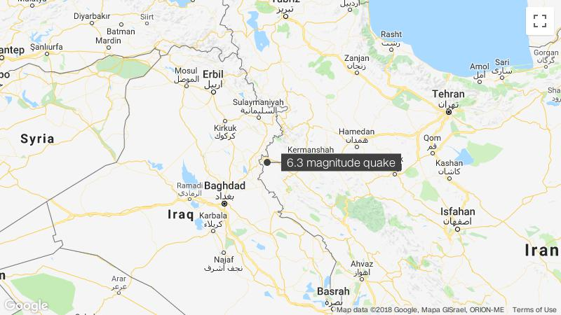 Over 500 hurt in magnitude 6.3 earthquake in western Iran