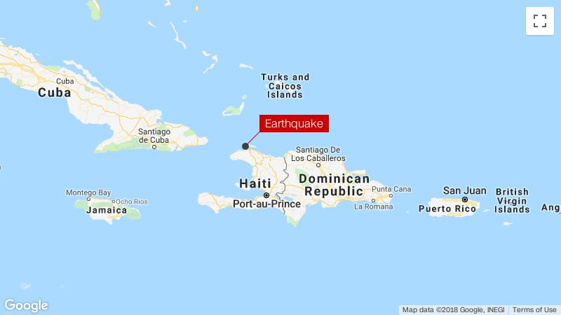 Magnitude 5.9 natural disaster  hits northern Haiti
