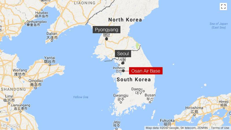 Osan South Korea Map.Detecting The Threat Ready To Respond Inside The Us Airbase