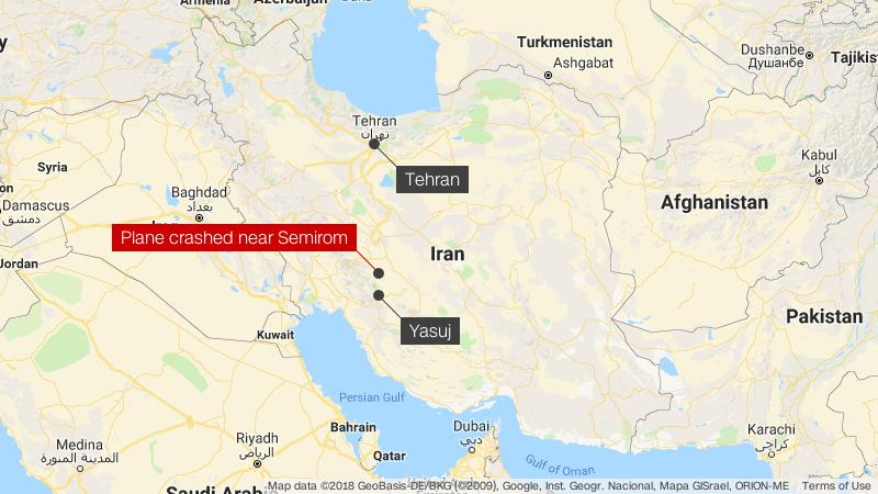 search for iran plane crash wreckage ongoing cnn