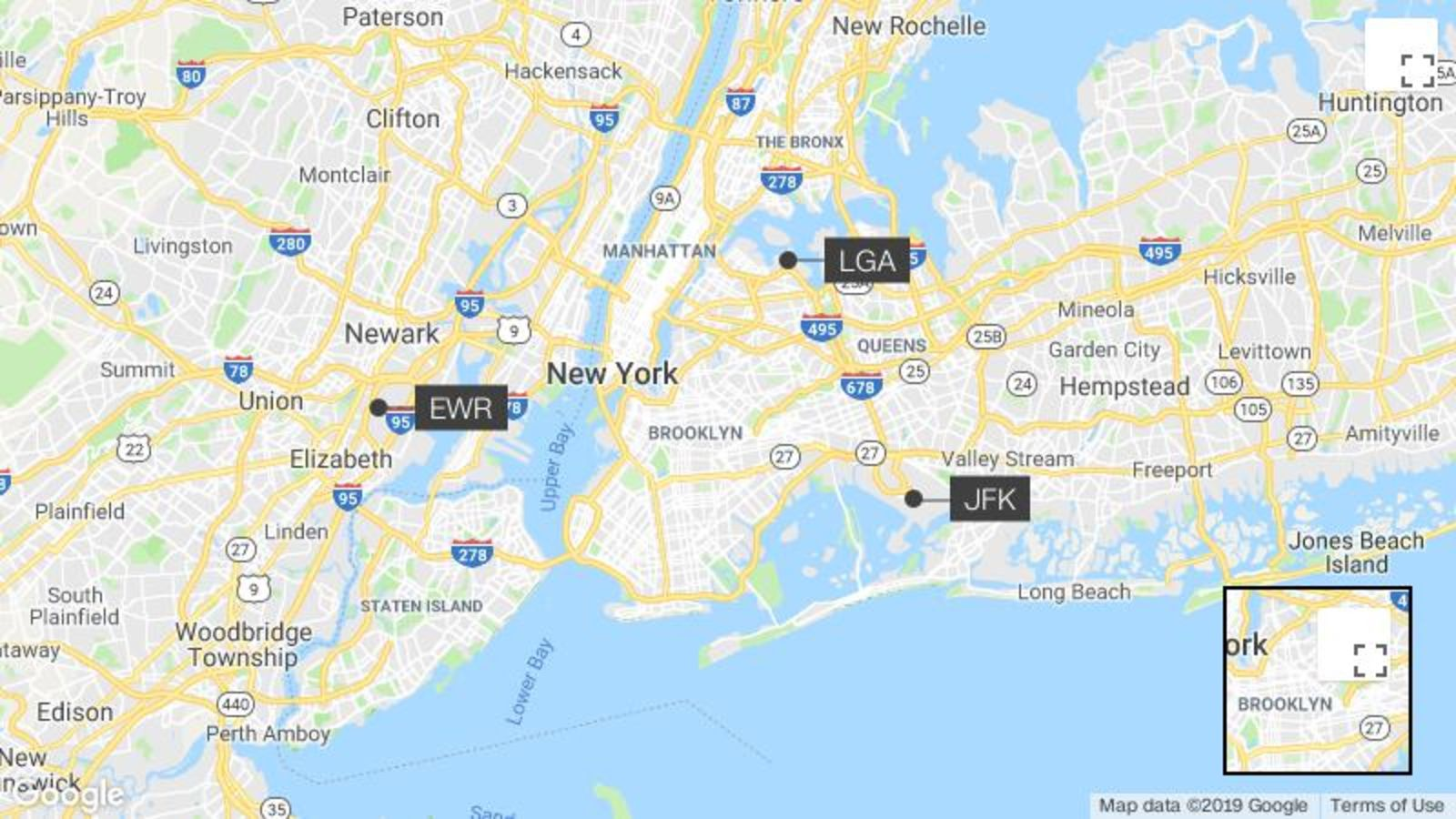 jfk airport and laguardia airport map Which Nyc Airport Do I Pick Jfk Lga Or Ewr Cnn Travel jfk airport and laguardia airport map