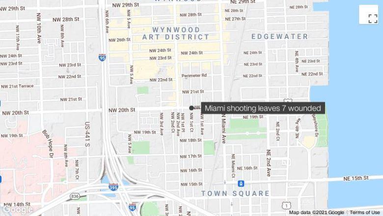 少なくとも 7 マイアミでの銃撃で負傷