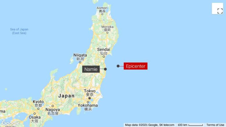 Powerful earthquake hits Japan near Fukushima