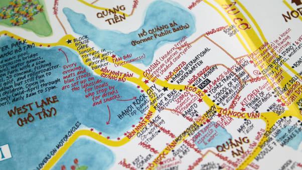 Hidden Hanoi Map creators share citys secret spots CNN Travel