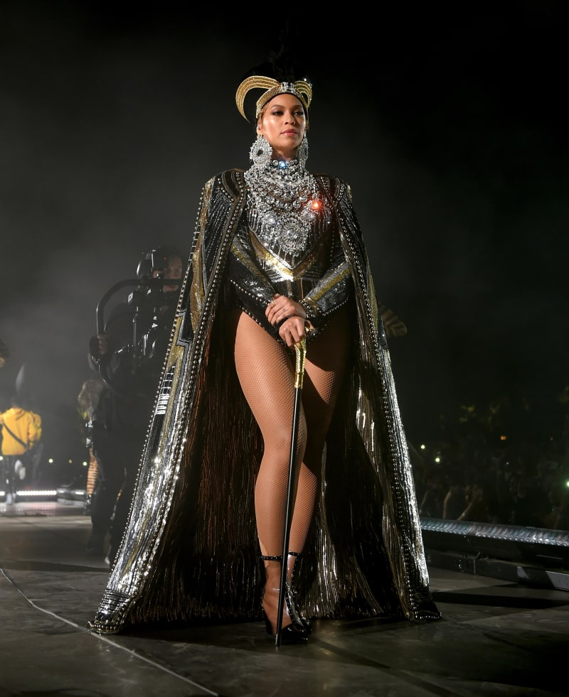 Beyoncé performs onstage during the 2018 Coachella Valley Music And Arts Festival in Indio, California. Credit: Larry Busacca/Getty Images North America/Getty Images for Coachella