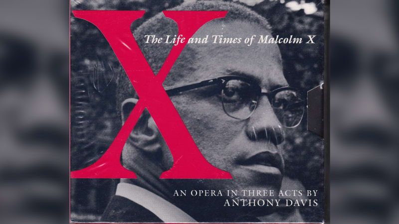 "This image shows the album cover for ""X, The Life and Times of Malcolm X."""