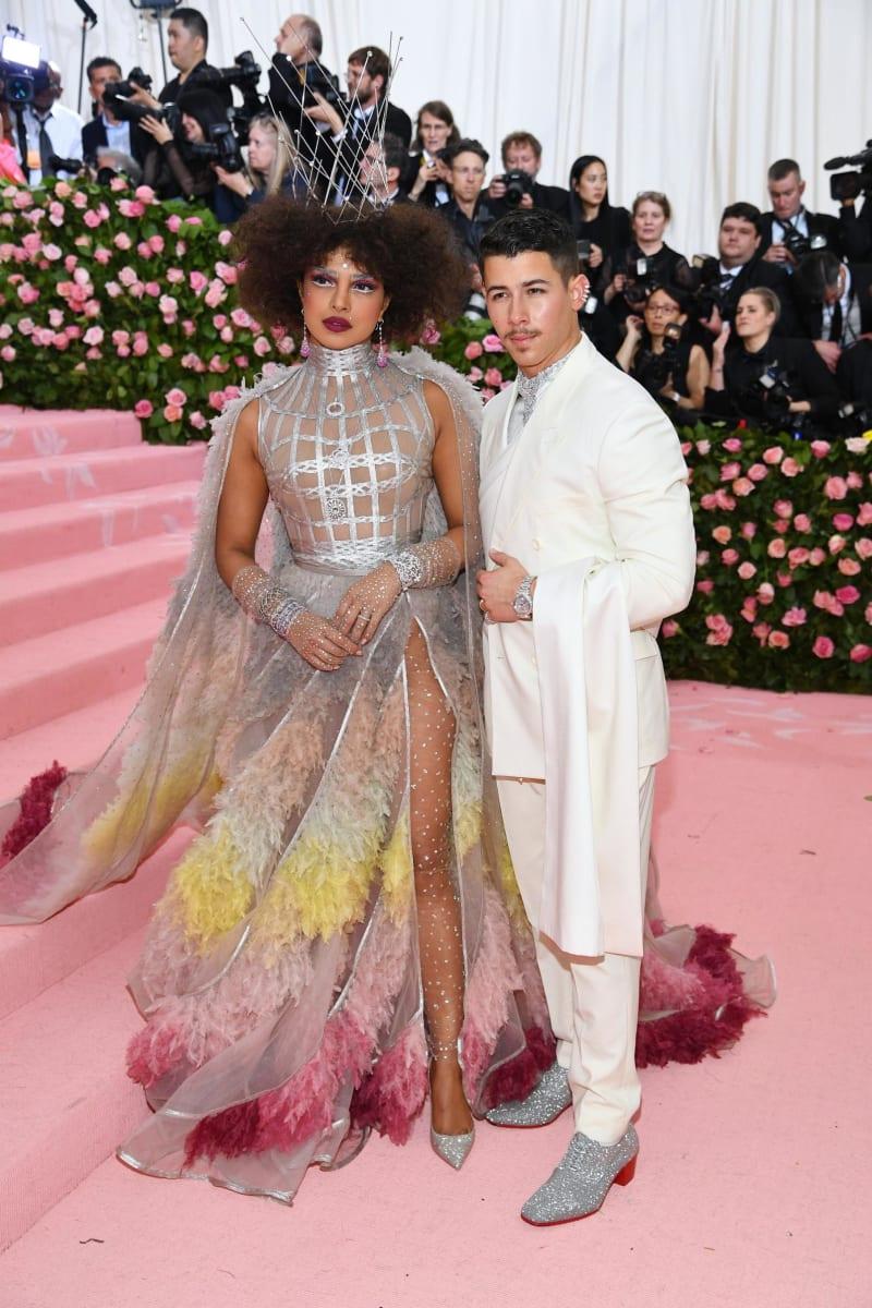 Priyanka Chopra and Nick Jonas attend the Met Gala.