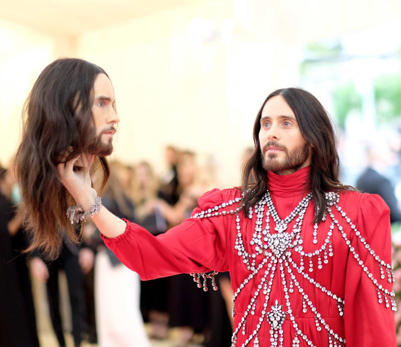 Jared Leto attends the Met Gala.