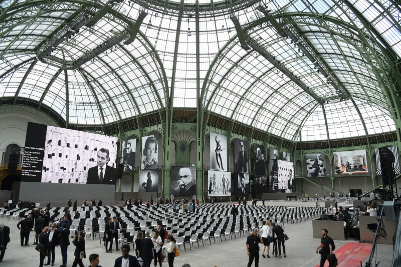"""The Grand Palais pictured ahead of  Thursday's """"Karl For Ever"""" tribute."""