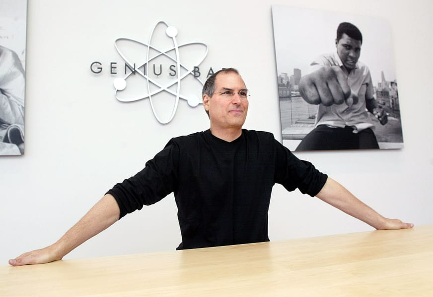 Steve Jobs offstage intro