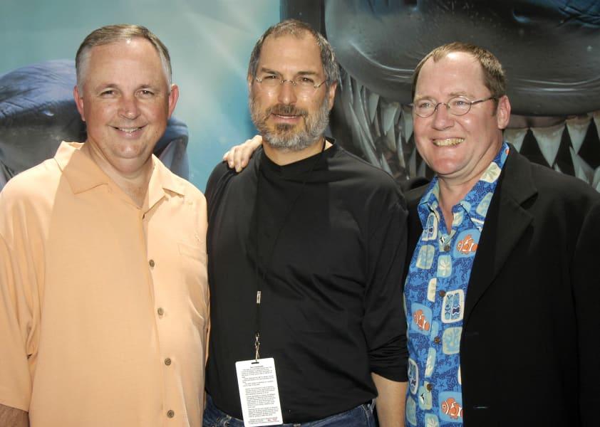 Steve Jobs offstage Finding Nemo