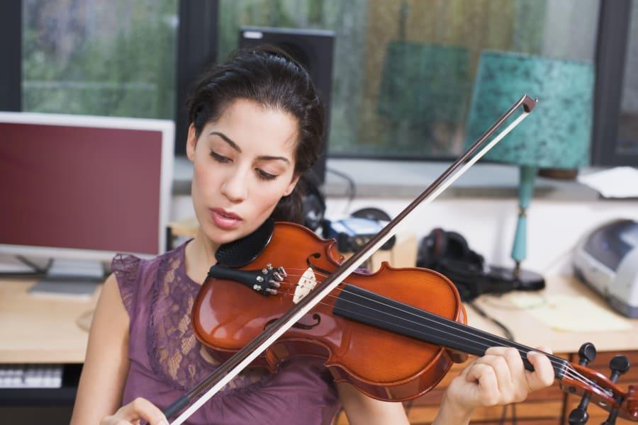 woman violin instrument