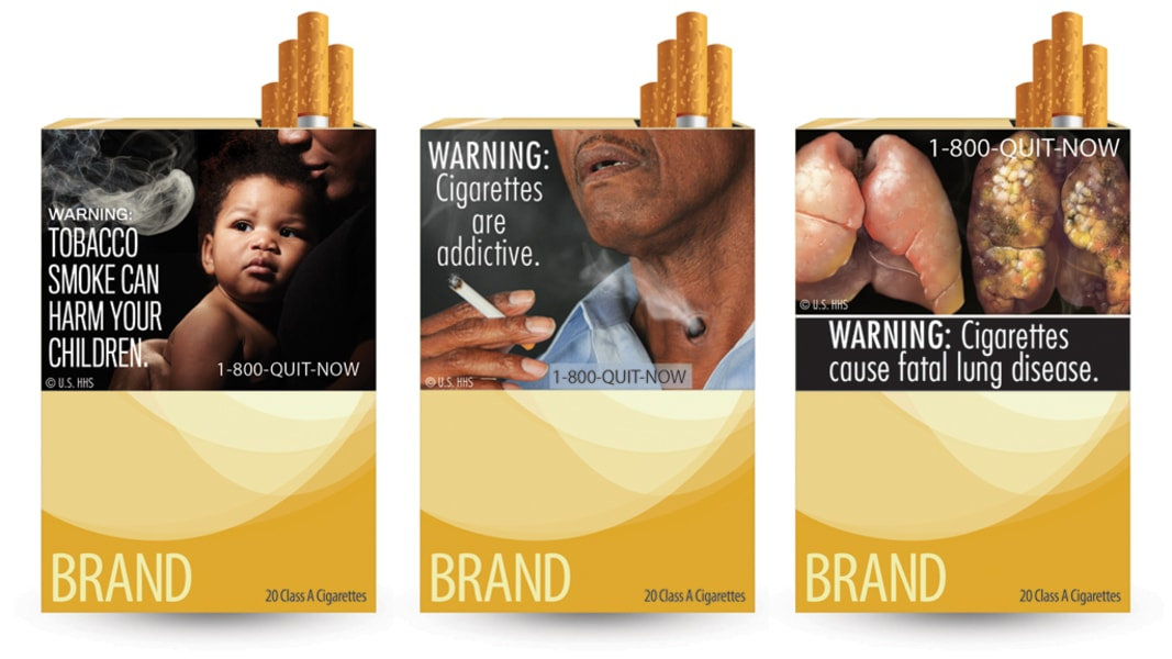 FDA new cigarette warning labels