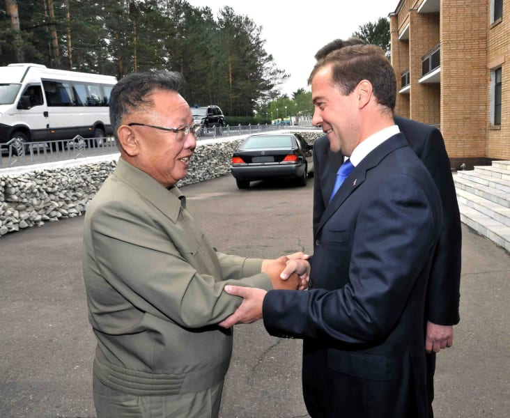 Kim Jong Il and Medvedev