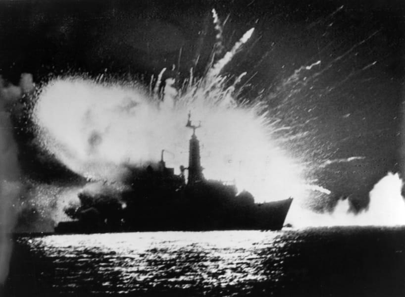 Falkands UK ship blast