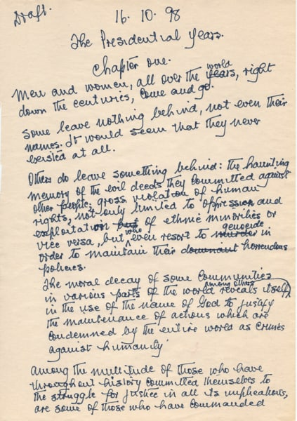 mandela archive first page autobiography