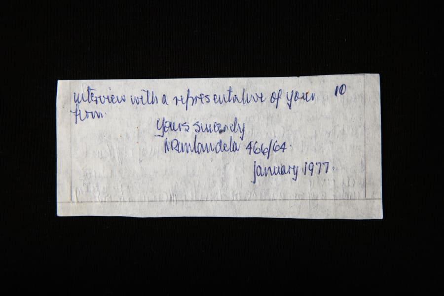 mandela archive smuggled letter